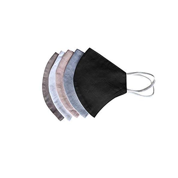Snakell-5er-Pack-Mundschutz-Waschbar-Baumwolle-Leinen-Mund-und-Nasenschutz-Mund-Nasen-Bedeckung-Stoff-Mehrweg-Bandana-Halstuch-Staubdichte-Stoffmasken-Face-Mouth-Covering-Mundbedeckung