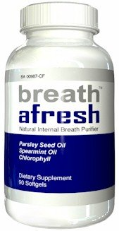Breath Afresh - 90 Capsules Natural Internal Breath Purifier Bad Breath