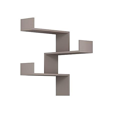 Ada Home D/écor DCRW2124 Walker Wall Shelf 24 x 35 x 9 Oak