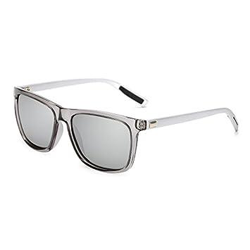 TL-Sunglasses Unisex atrás Piazza Gafas de Sol polarizadas Lentes DE Espejo Vintage Gafas de Sol para Hombre Mujer Gafas de Sol Polaroid UV400,KP7031 C8: ...