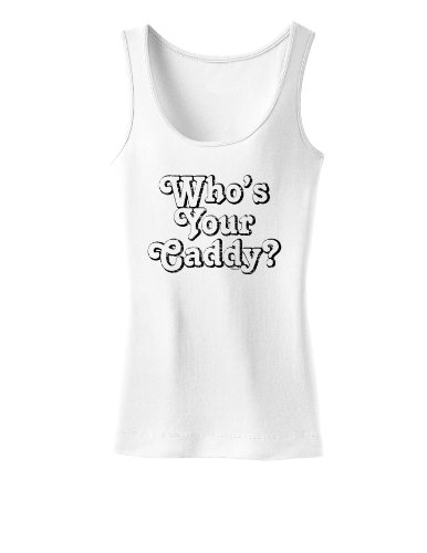 Who's Your Caddy Womens Tank Top - White - Large