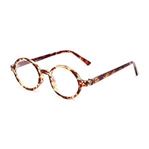 Readers.com The Bookworm +2.25 Marbled Brown Affordable Round Frame Best Sellers Reading Glasses