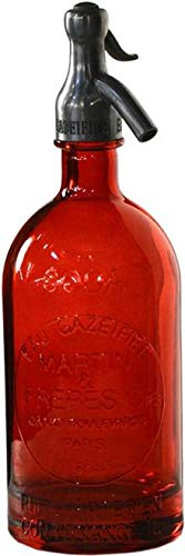 Seltzer Bottle Dovetail Vintage Red Set 6 New Hand-Blown by Dovetail Furniture