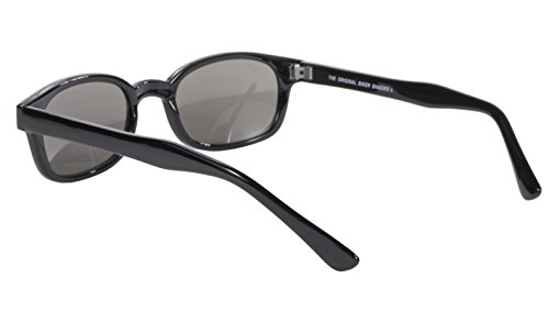 573b858a4a82 Pacific Coast Original KD s Biker Sunglasses (Black Frame Silver Mirror Lens )