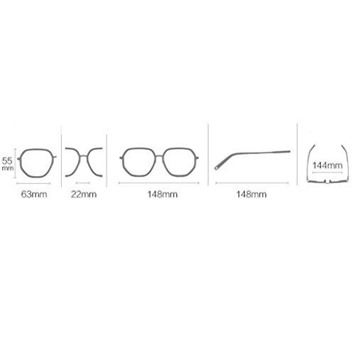 de para sol polarizadas Sungeye Gafas Gafas C Color A tamaño Retro sol gafas gran mujer de de TPcwAwq5gF