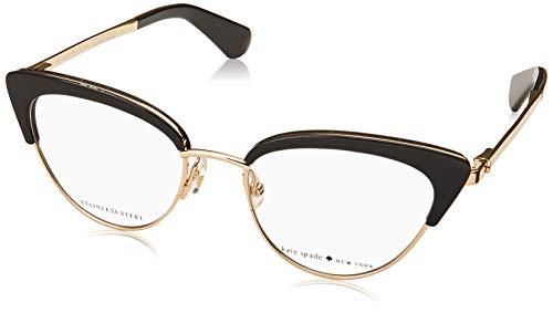 Kate Spade Jailyn 807 Black Plastic Cat-Eye Eyeglasses 50mm (Cat Frame Eyeglasses Women)