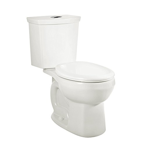 American Standard 2887218.020 H2Option Siphonic Dual Flush Normal Height Elongated Toilet, White, 2-Piece by American Standard