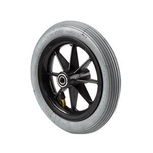 Invacare Corporation Composite Caster Wheel 8'' x 1'', Light Grey, Solid Rubber