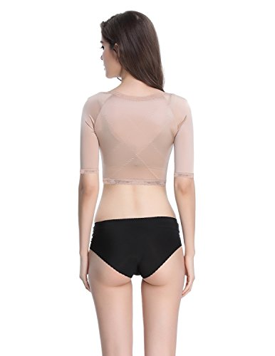 a0e6683bf35fd Shymay Women s Shapewear Tops Wear Your Own Bra Short Sleeve Crop Top Arm  Shapers