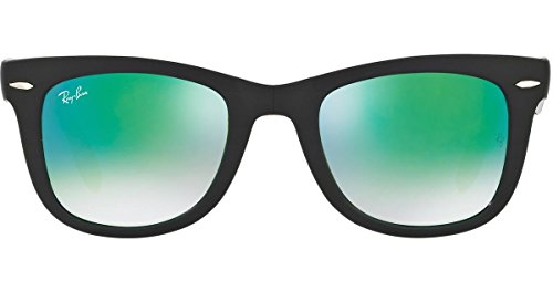 Ray-Ban Men's Folding Wayfarer Sunglasses, Black/Green, One - Ray Ban Foldable