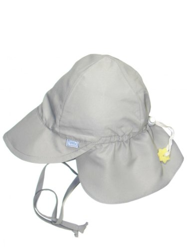 i play. Baby & Toddler Flap Sun Protection Swim Hat (White, 0-6 Months)