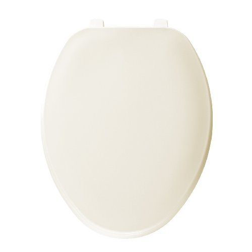 Bemis 170006 Economy Plastic Elongated Toilet Seat, Bone - Toilet Seat Bone