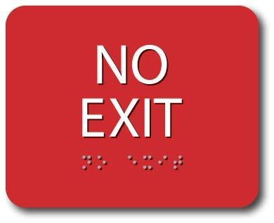 Amazon.com: ADA Braille – Señal de no salida, 4.0 x 5.0 in ...