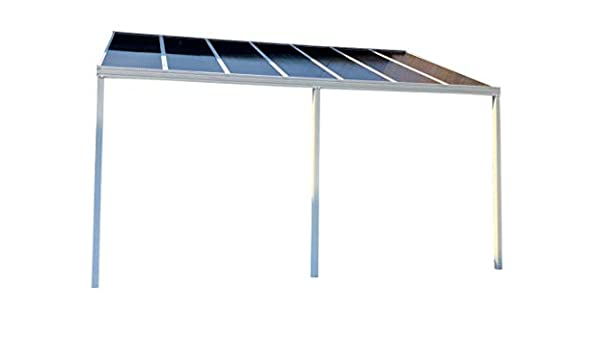DIY Carport/Patio Cover/Canopy 5.0m de Ancho x 2.1m proyección – policarbonato, marrón: Amazon.es: Jardín