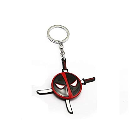 Algol - Movie Deadpool Keychain Dead Pool Mask Can Be Turn ...