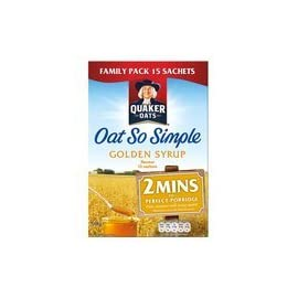 Quaker Oats Oat So Simple Golden Syrup Porridge 16 X 36G 19 Bigger box more sachets compared to 10 and 12 sachet multipacks at full RSP 2 mins to perfect porridge No artificial flavourings, colours or preservatives