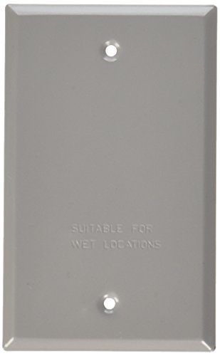 Bell Outdoor 5173-0 Gray Single Gang Blank Switch Plate (Single Gang Enclosure)