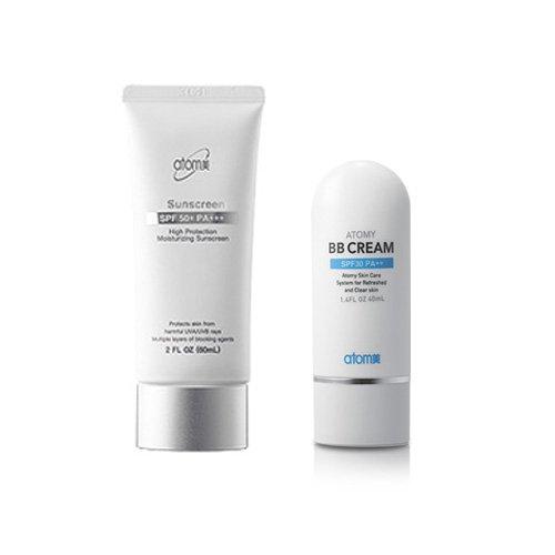 [Atomy] Atomy Sunscreen : SPF 50 + Pa +++ Herb Skin Care Uv Sun Protection White + Atomy BB Cream 1set (2 Pcs 1 Set) ()