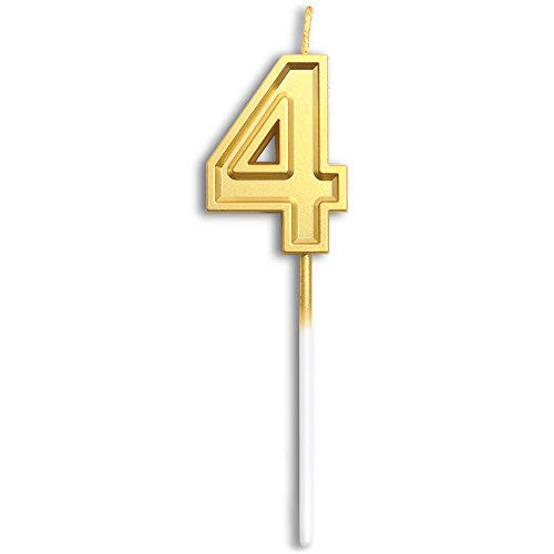 number 4 birthday candle - 1