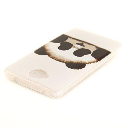 Transparent Cas Résistant Bord Hozor Peint Silicone Lumia Slim 650 Scratch En Cas De Antichoc Protection Nokia Souple panda Fit Microsoft De Téléphone Motif Arrière TPU Couverture wqqIAST