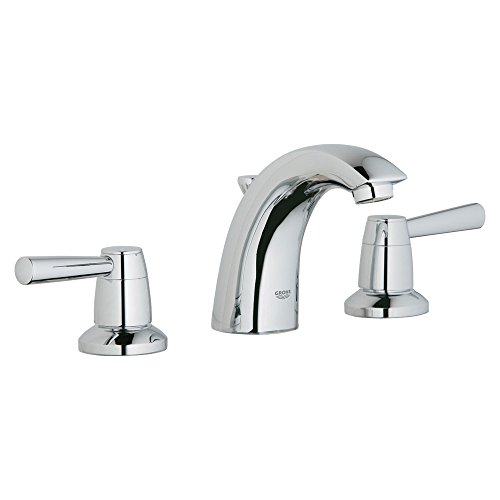 (Grohe K20121-18083-001-2 Arden Lavatory Faucet Kit with Lever Handle, Chrome, Starlight)