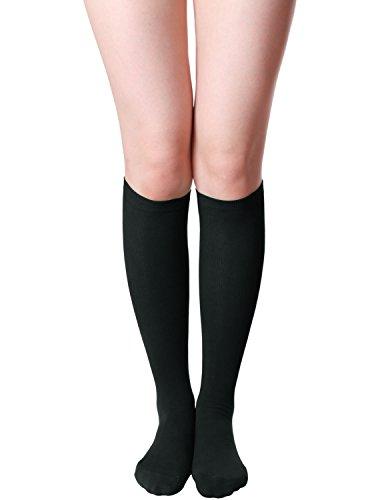 HASLRA Women's Knee High Socks 1 Pairs (BLACK)