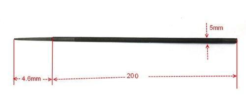 200 x 4,8 mm Juego de 3 limas para el afilado de cadenas de motosierras Aerzetix