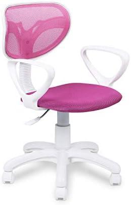 Adec - Touch, Silla de Escritorio giratoria, Silla Juvenil de Oficina, Color Rosa, Medidas: 54 cm (Ancho) x 54 cm (Fondo) x 93-105 cm (Alto) 22