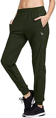 BALEAF Joggers for Women Sweatpants Scrubs Hiking Running Track Pants Athletic Lightweight Work Pants Zipper P