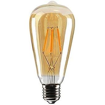 Bombillas vintage Edison Retro Old estilo de moda tornillo LED Bombilla regulable decorativo espiral filamento lámpara