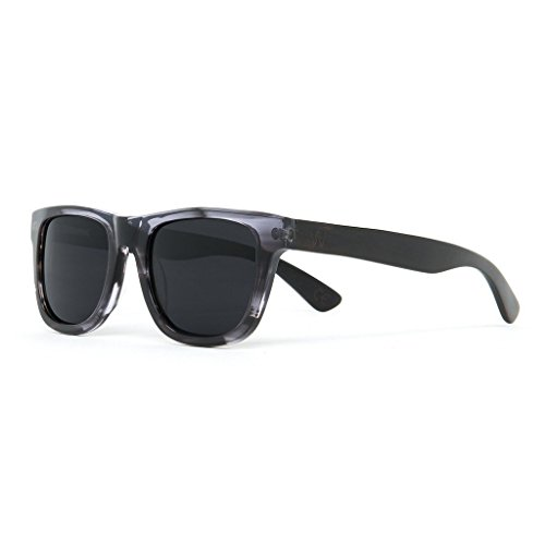 Woodzee Real Black Wood Sunglasses with Durable Acetate - Sunglases Wood