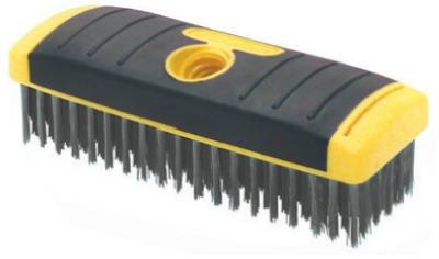 Allway Tools SB619 Soft Grip Carbon Steel Heavy Duty Steel Wire Brush