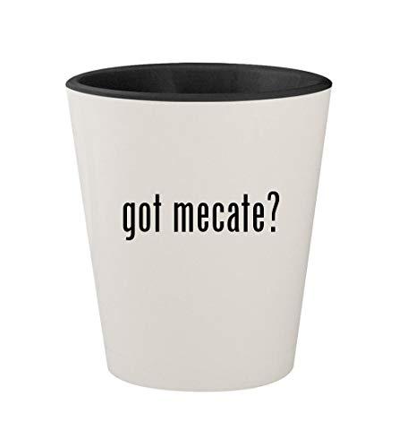 got mecate? - Ceramic White Outer & Black Inner 1.5oz Shot Glass