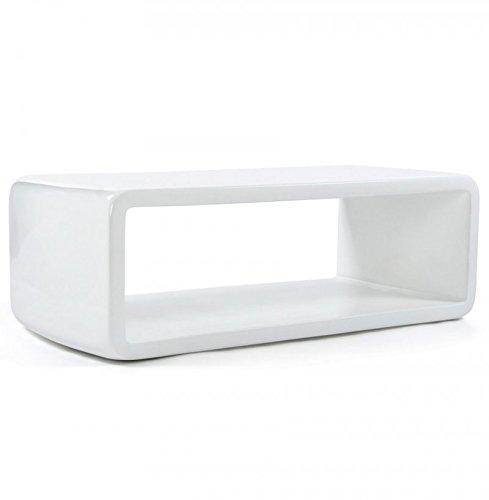 Kokoon ct00080wh Fiber Couchtisch Glas weiß 61x 121x 41cm