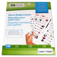 Imprint Plus Laser/Inkjet Badge Insert Sheet Refill Pack (IPP3140) ()