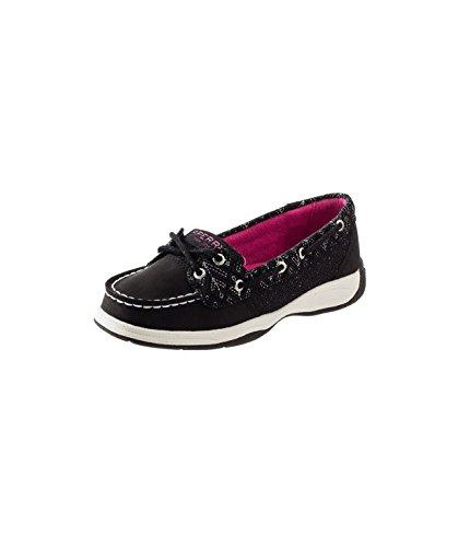 Sperry Top-Sider Kids Girl's Laguna Shoe, Black, 4 Big Kid M