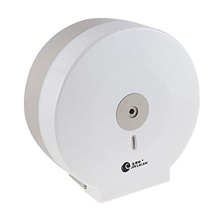 eDealMax de suspensión de pared de toallas de Papel del Tejido Titular dispensador rodillo Blanco gris
