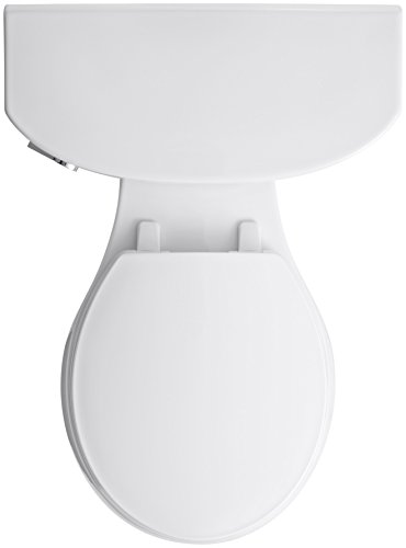 KOHLER K-3888-47 Cimarron Comfort Height Two-Piece Round-Front 1.6 GPF Toilet with AquaPiston...