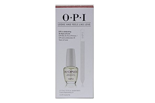 Avoplex Nail & Cuticle Replenishing Oil - 1 Bottle .5oz + 1 Crystal File (Avoplex Cuticle Oil)