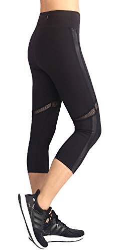 EAST HONG Womens Active Yoga Pants Capri Workout Pants Black cheap ...
