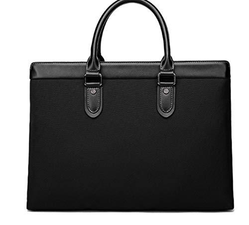 Oxford Minimalism Male Fit 14 Inch Laptop Men'S Messenger Bag for Laptop Simple File Briefcase Bags,Black
