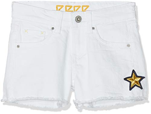 Pepe SunnyFille White Jeans Short Blancoptic Elsy 802 rdQtshC
