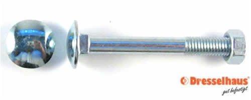 25 Flachrundschrauben-Schlossschrauben DIN 603 verzinkt 8x70 BefestigungsFuchs