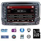 Hotaudio Car Stereo 7 inch 2 Din Autoradio for VW Jetta Golf Tiguan Polo Passat with DVD CD Player GPS Navigation USB SD CANBUS FM AM RDS Bluetooth Steering Wheel Control 720P Video Wince Carplay SWC ()