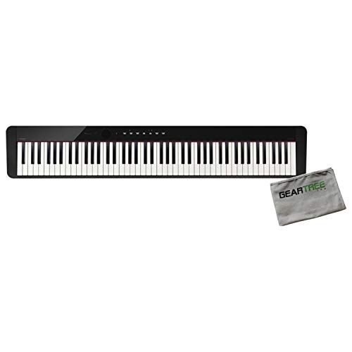 Casio PX-S1000BK 88 Weighted Key Digital Piano w/Cleaning Cloth
