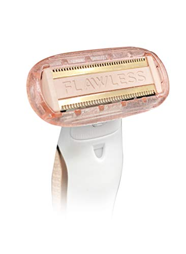 Finishing Touch Flawless Body Rechargeable Ladies Shaver and Trimmer, White/Rose Gold