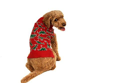 UPC 805081996859, Alex Stevens 100-Percent Cotton Fairisle Dinosaur Chaos Doggie Apparel Mock Turtleneck Sweater, Medium