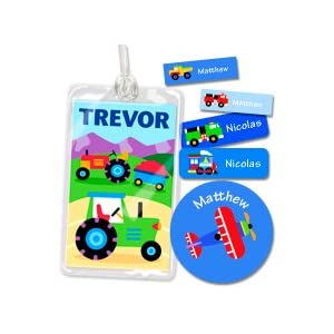 Olive Kids Trains, Planes and Trucks Personalized Camp Kit