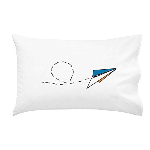 Oh, Susannah Paper Airplane Pillowcase For Youth or Toddler Bedding As Kids Room Decor Youth Toddler Pillowcase Luxury Soft and Breathable Material and Design DECORATED IN USA Anti-Microbial