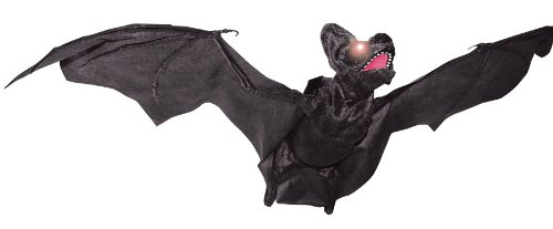 ANIMATED FLYING BAT HALLOWEEN PROP Scary Haunted House Yard Garden Decoration - SS84050 ()